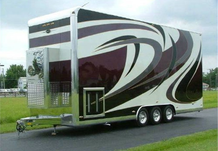 custom car hauler trailers