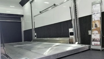 enclosed car hauler trailer interior