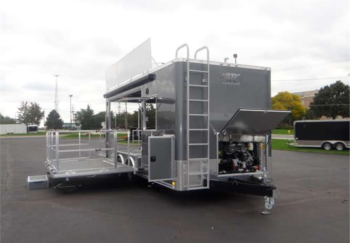 mobile marketing stage custom trailer