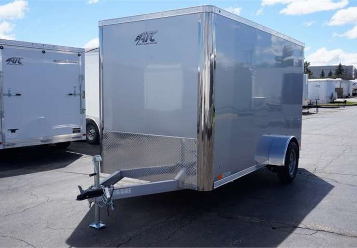 6'x12' ATC Enclosed Cargo Trailer - Silver Frost