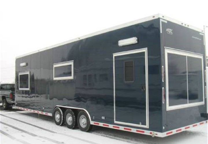 Custom Built Toy Hauler And Mobile Field Office Advantage Trailer - Mobile office trailer with bathroom