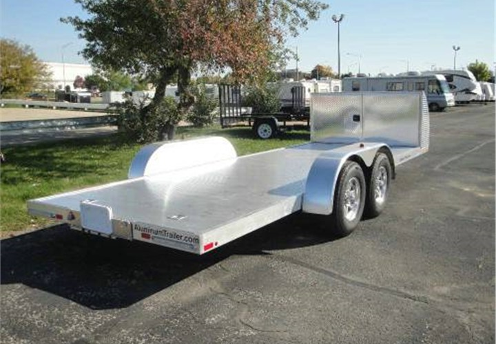 Atc trailers stacker car haulers - Atc Aluminum Open Car Hauler Trailer With Front Cabinet