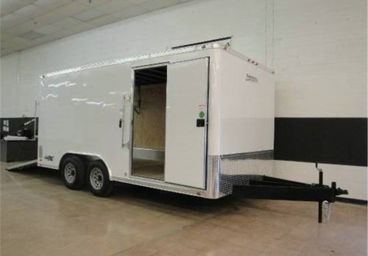 Factory Preview of 8' x 16' Enclosed Landscape Trailer - Factory Preview Of 8' X 16' Enclosed Landscape Trailer Advantage