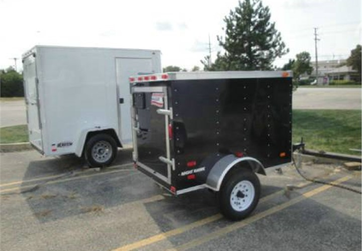 4x6 Enclosed Trailer >> Enclosed Black 4 X 6 American Hauler Cargo Trailer Advantage Trailer