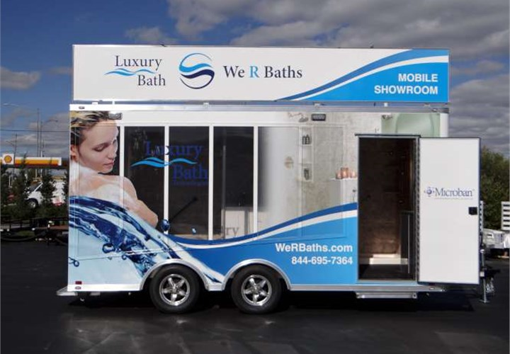 Mobile Bathroom Remodeling Showroom Mobile Marketing Trailer - Bathroom remodel showroom