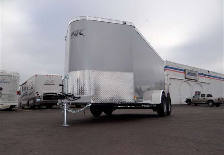 Mobile Trailers Custom Garage : Custom enclosed cargo trailer sized to fit into garage