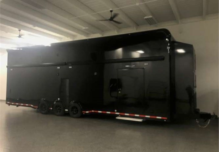 Fully Loaded 34 Foot Gt3 Race Car Hauler Advantage Trailer