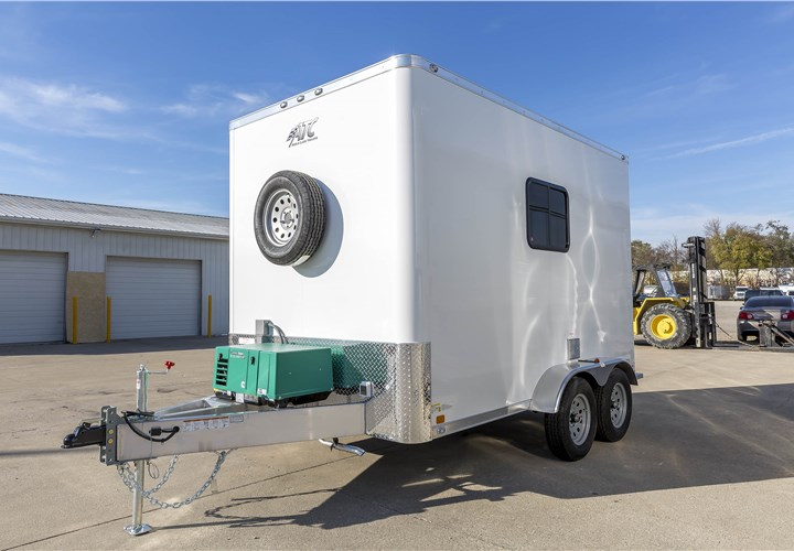 7x12 Aluminum Framed Fiber Optic Splice Trailer ...
