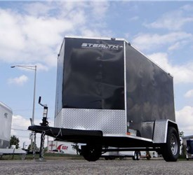 5' x 8' Black Cargo Trailer with Rear Swing Doors by Stealth Enterprises