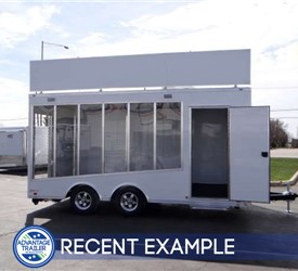 Mobile Bathroom Retrofitting Glass Sided Showroom Trailer