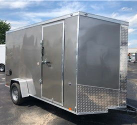Pewter 6' x 12' Enclosed Cargo Trailer