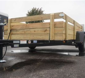 "6' 4"" x 10' Open Utility Trailer with Removable Sides"