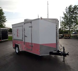USED 6' x 12' Custom Bakery Vending Trailer
