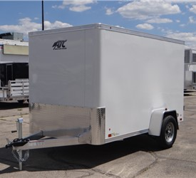6' x 10' Polar White Cargo Trailer