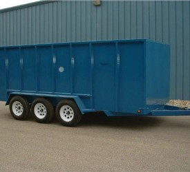 Garbage Dumpster Trailer Heavy Duty Non - Dump Trailer