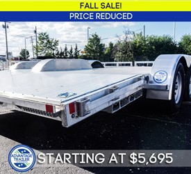 MTI 8.5'x18' All-Aluminum Open Car Hauler - Fall Sale!