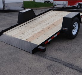 Custom 6' x 12' Scissor Lift Hauling Trailer