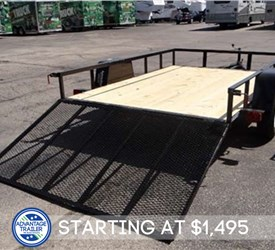 Open Black 6.5' x 10' Utility Trailer By U.S. Cargo – Forest River
