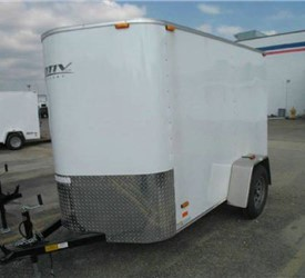 CARGO TRAILER 5' x 8' + 2' WEDGE AND RAMP