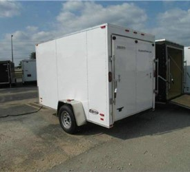 ENCLOSED CARGO TRAILER 6' X 10' WITH RAMP