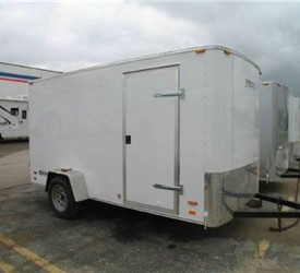 ENCLOSED CARGO TRAILER 6' X 12' SWING DOORS