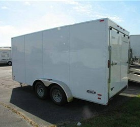 CARGO TRAILER ENCLOSED 7'X16' WITH RAMP