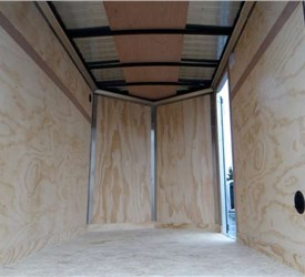 5' x 8' White Cargo Trailer with Rear Double Swing Doors