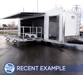 24' Experiential Marketing Trailer with 15' Stage Door
