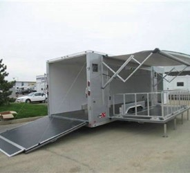 CUSTOM BUILT MOBILE STAGE TRAILER