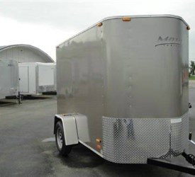 Enclosed Charcoal 5' X 10' Motiv Cargo Trailer with Wedge Nose
