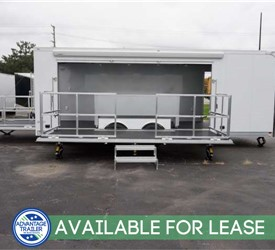 24' Stage Trailer with 15' Stage - Trailer Lease