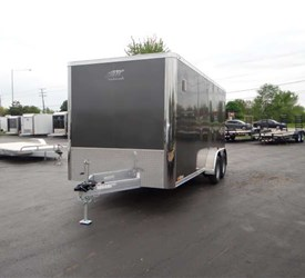 7' x 16' Medium Charcoal Enclosed Cargo Trailer
