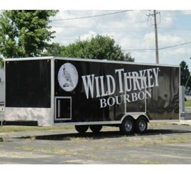 WILD TURKEY DISPLAY MOBILE MARKETING TRAILER