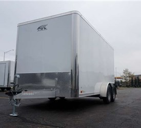 Polar White 7' x 14' Enclosed Cargo Trailer