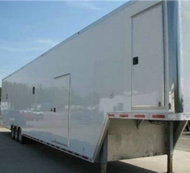 Custom Built Car Trailer With Frame Structure For Future Stacker Lift Install