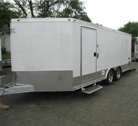 ATC QUEST ALUMINUM CAR TRAILER 8.5X 18' + WEDGE NOSE