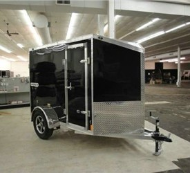 Aluminum Enclosed 5' x 8' W/Wedge Nose Cargo Trailer