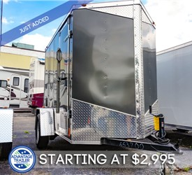 MTI 5'x8' Enclosed Cargo Trailer - Charcoal