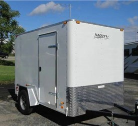 Enclosed White 6' x 10' Motiv Cargo Trailer