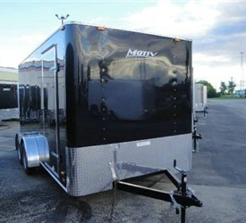 Enclosed Black 7' x 14' Motiv Cargo Trailer