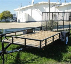 Open Black 6' x 12' J.B. Enterprise Utility Trailer