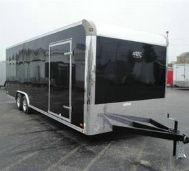 Enclosed Black 8.5' x 24' Motiv Cargo Trailer with Car Hauler Package