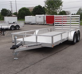 Open Aluminum 7' x 16' Utility Trailer by ATC