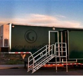 Enclosed Black 8.5' x 40' ATC – Aluminum Trailer Company TV Production Trailer