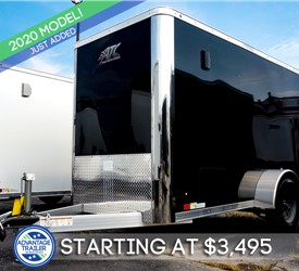 ATC 5'x8' Enclosed Cargo Trailer - Black