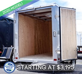 ATC 5'x8' Enclosed Cargo Trailer - Silver