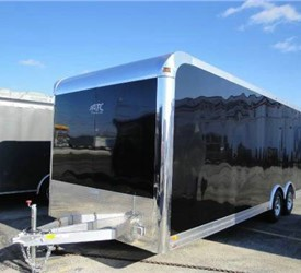 Enclosed Black 8.5' x 24' ATC Enclosed Car Hauler Trailer