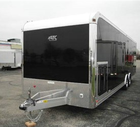 Enclosed Black 8.5' x 28' ATC Car Hauler Trailer