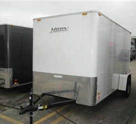 Enclosed White 6' x 12' Motiv Cargo Trailer