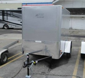 Enclosed Silver 5' x 8' Motiv Cargo Trailer